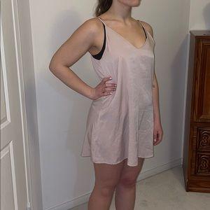 Audrey 3+1 Anthro Blush Pink Slip dress